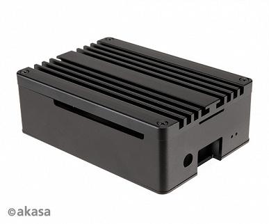 Алюминиевый корпус Akasa Pi-4 Pro для Raspberry Pi 4 одновременно играет роль радиатора