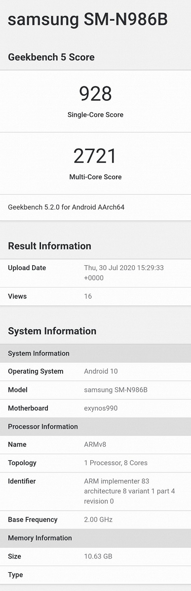 Samsung Galaxy Note20 разочаровал еще до анонса