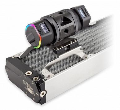 Aqua Computer Ultitop D5 Dual позволяет легко включить в систему жидкостного охлаждения две помпы
