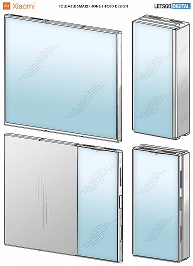 Смартфон Xiaomi Mi Z Fold сгибается в двух местах. Первые изображения