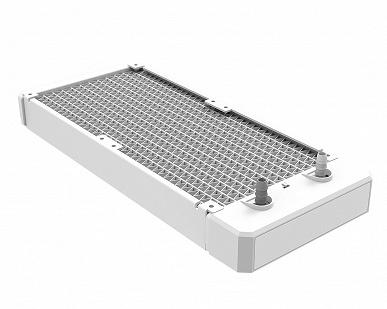 Все компоненты системы жидкостного охлаждения ID-Ice Flow 240 ARGB Snow окрашены белый цвет