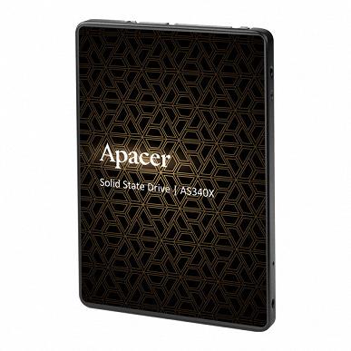 Твердотельные накопители Apacer AS340X и AS350X оснащены интерфейсом SATA