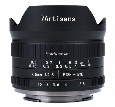 Начались продажи объектива 7artisans 7.5mm f/2.8 II