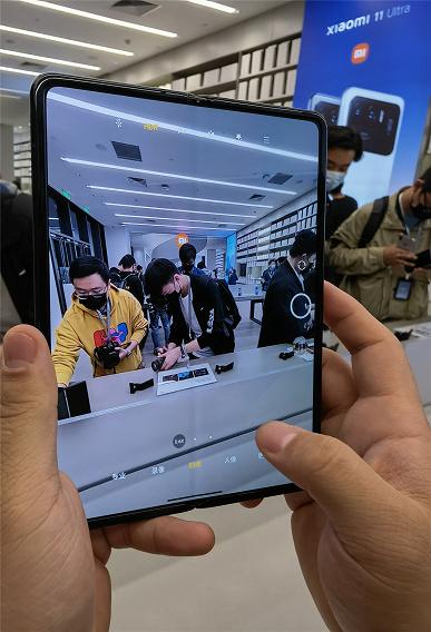 Xiaomi Mix Fold показали вживую сразу после анонса: складка на экране никуда не делась