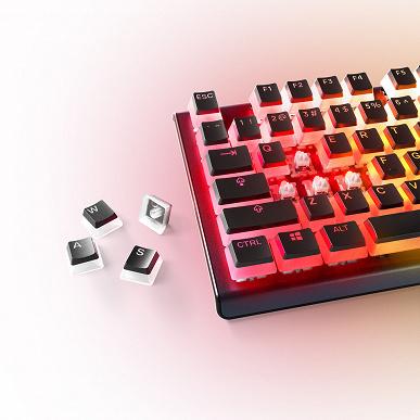 Двухслойные колпачки для клавиш SteelSeries PrismCaps предложены в белом и черном вариантах
