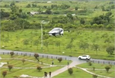 Летающий автомобиль Xpeng X2 может перевозить 560 кг груза на скорости до 130 км/ч