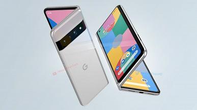 Так может выглядеть первый складной смартфон Google с гибким экраном. Pixel Fold показали на огромных рендерах и в видеоролике