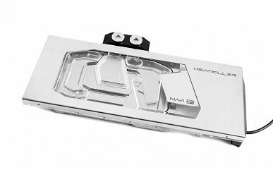 Водоблок Watercool Heatkiller V предназначен для видеокарт AMD Radeon RX 6800, 6800 XT и 6900 XT