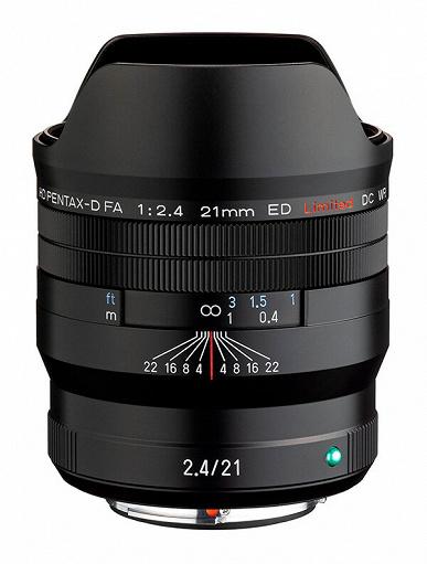 Представлен объектив HD Pentax-D FA 21mmF2.4ED Limited DC WR