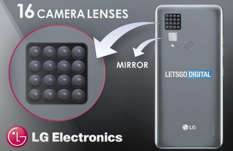 LG рассматривает вариант выпуска смартфона с камерой, включающей 16 датчиков