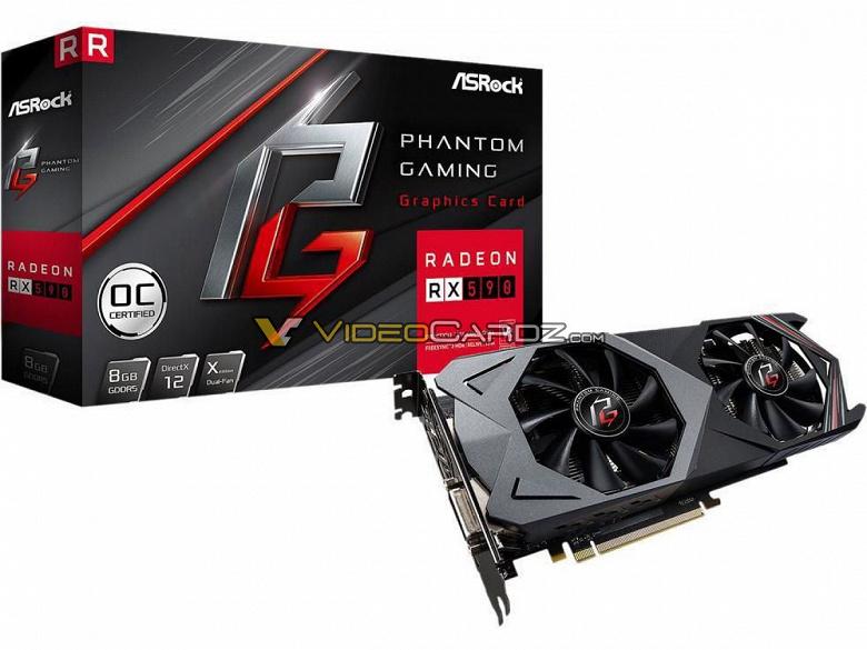 Видеокарта ASRock Radeon RX 590 Phantom Gaming X OC появилась на первых изображениях