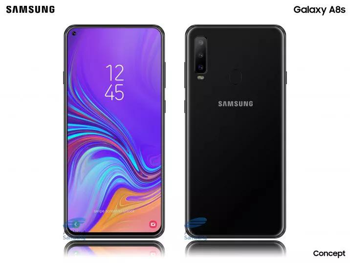 Появились новые изображения Samsung Galaxy A8s с дисплеем Infinity-O