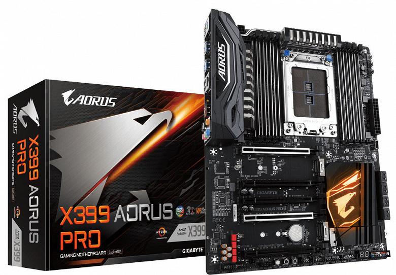 X399 Aorus Pro — самая доступная системная плата Gigabyte с разъемом AMD TR4