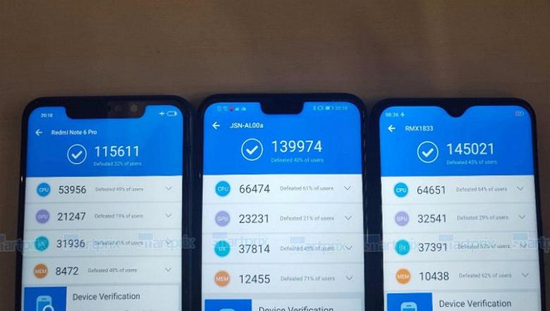 SoC MediaTek Helio P70 обходит по производительности платформы Kirin 710 и Snapdragon 636