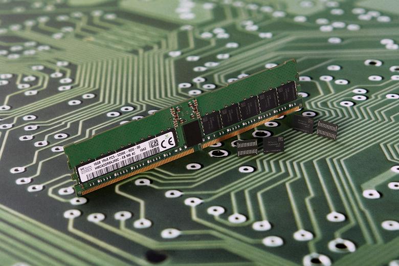Компания SK Hynix первой разработала микросхему памяти DRAM DDR5 плотностью 16 Гбит