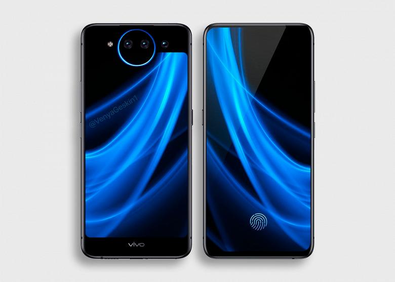 Опубликован качественный рендер смартфона Vivo Nex 2 с двумя экранами и тройной камерой