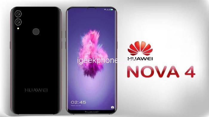 Смартфон Huawei Nova 4 получит экран диагональю 6,3 дюйма, флагманскую SoC Kirin 980 и поддержку 5G