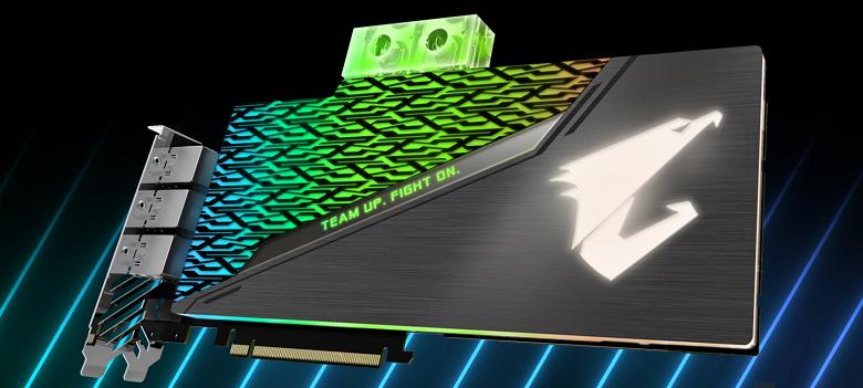 Видеокарты Gigabyte GeForce RTX 2080 и 2080 Ti линейки WaterForce получили водоблоки и заводской разгон