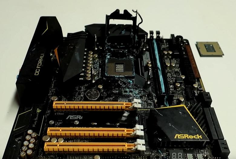 Процессор Intel Core i9-9900K удалось разогнать до 5,50 ГГц в плате на чипсете Z170