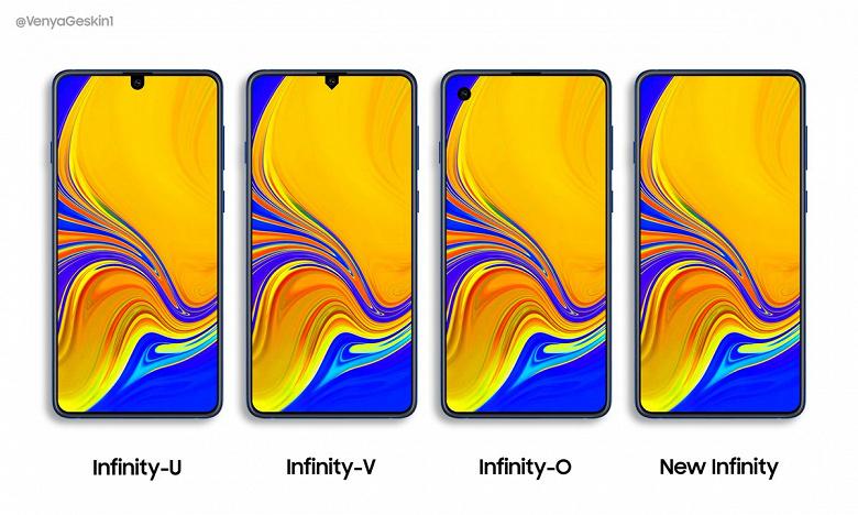 Первыми дырявые экраны Infinity получат смартфоны Samsung Galaxy A70 и A90
