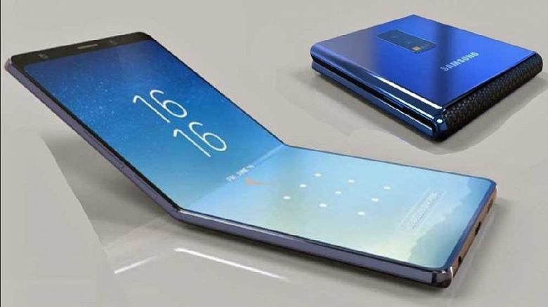 Первый сгибающийся смартфон Samsung получил два экрана диагональю 7,29 и 4,58 дюйма