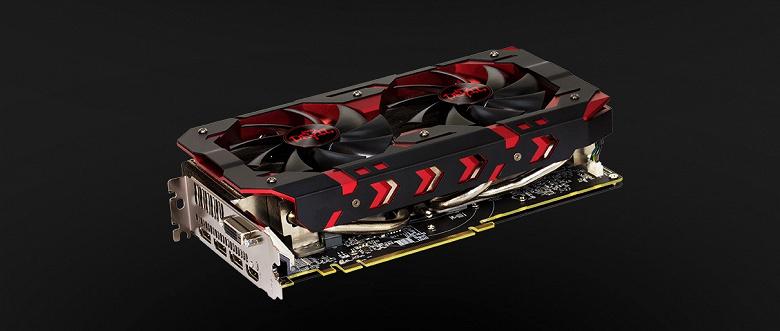Видеокарта Red Devil Radeon RX 590 из-за охладителя занимает более двух соседних слотов расширения