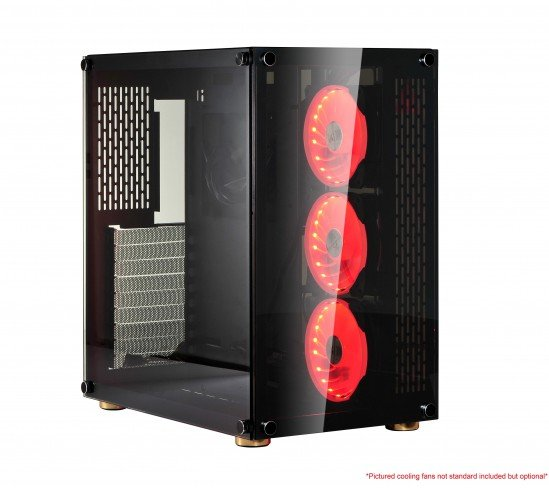 В нетипично широком компьютерном корпусе X2 Protonic можно установить до девяти вентиляторов