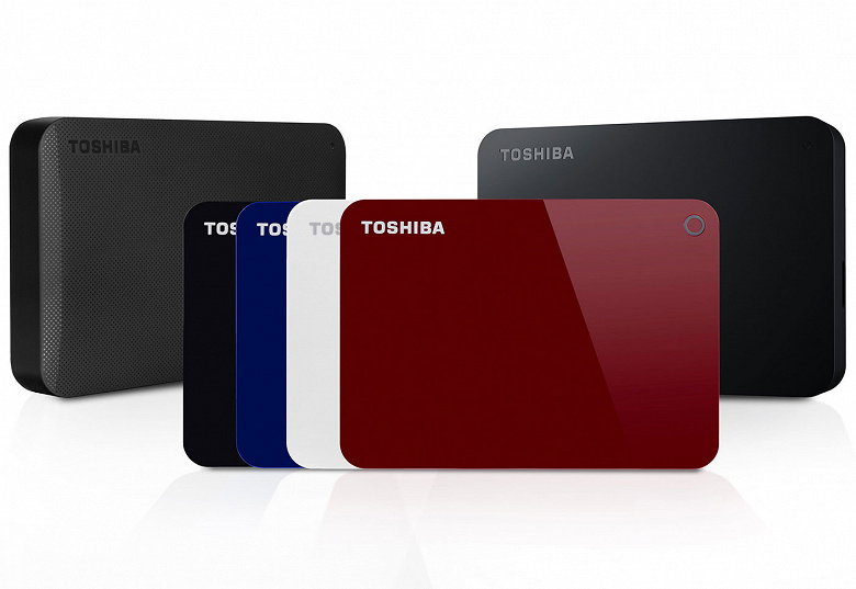 Семейство внешних HDD Toshiba Canvio пополнили модели объемом 4 ТБ