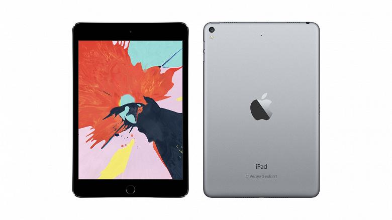 Опубликован рендер планшета Apple iPad Mini 5