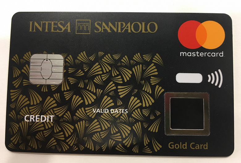 В Европе начинается тестирование первой биометрической бесконтактной платежной карты