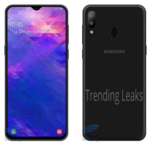 Опубликованы рендеры смартфона Samsung Galaxy M30: сдвоенная камера и каплевидный вырез экрана
