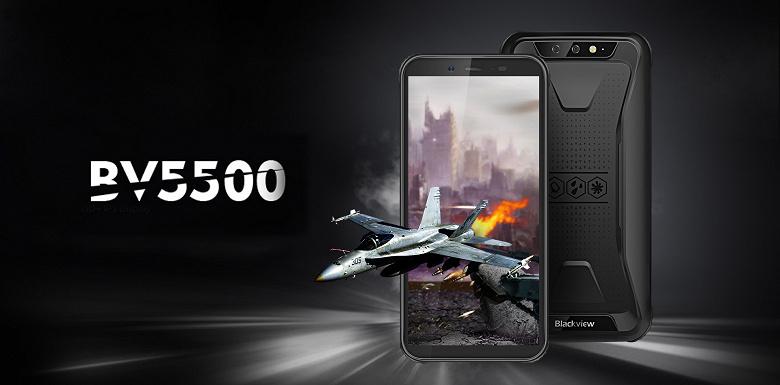 Смартфон Blackview BV5500 предлагает защиту IP69K и АКБ емкостью 4400 мАч