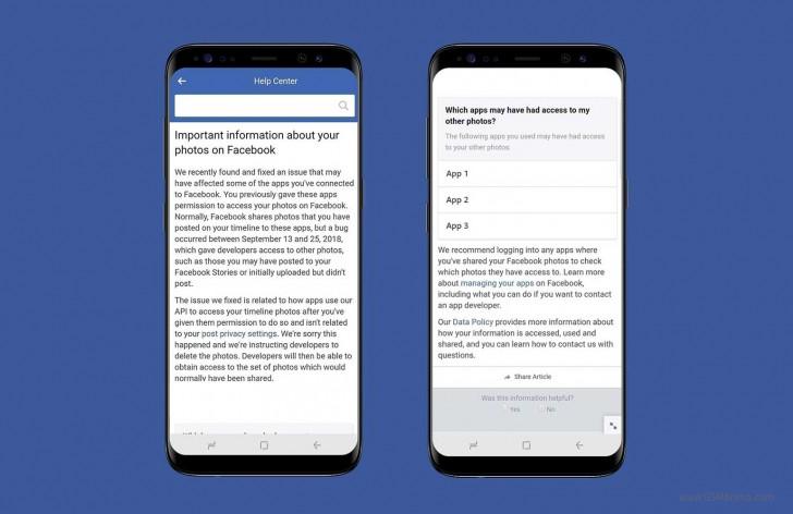 Из-за бага в Facebook фотографии 6,8 млн пользователей стали доступны в других приложениях