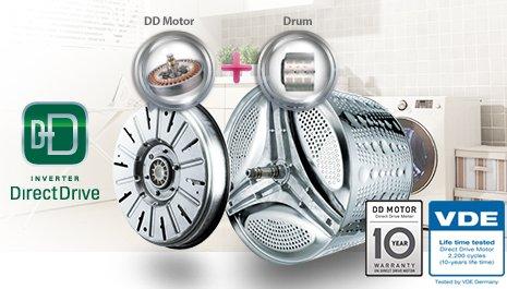 Lg выпустила 70 млн инверторных моторов с прямым приводом