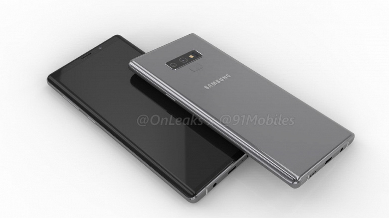 Компьютерные изображения дают представление о внешности Samsung Galaxy Note9