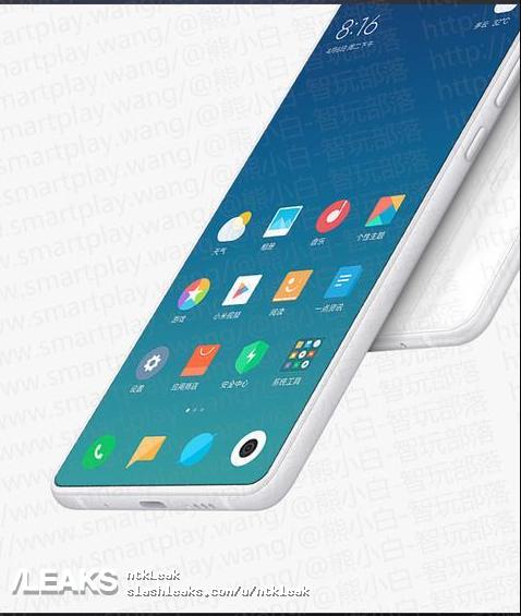 Изображения Xiaomi MiMIX 3 демонстрируют всплывающую фронтальную камеру