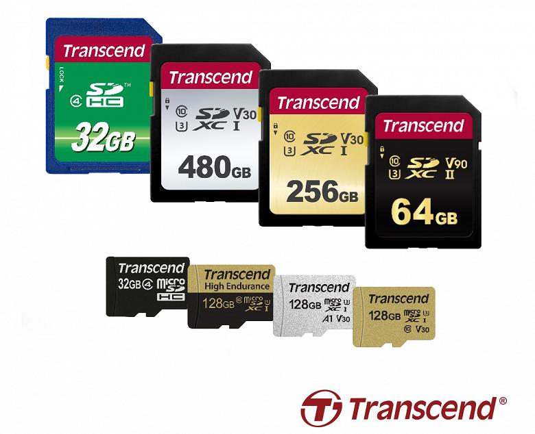 Новые карты памяти Transcend SD и microSD