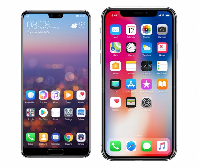 Huawei сравнила свой флагманский камерафон с iPhone X