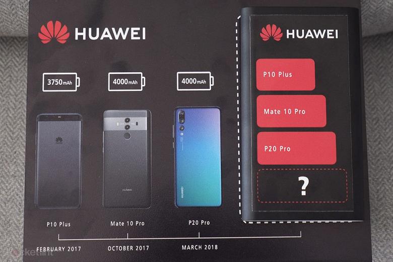 Huawei рекламирует аккумулятор самой большой емкости в смартфоне Huawei Mate 20 Pro