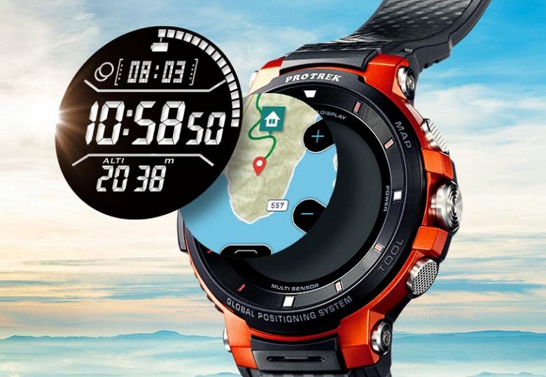 Защищенные умные часы Casio Pro Trek Smart WSD-F30 с Wear OS получили цветной и черно-белый экраны