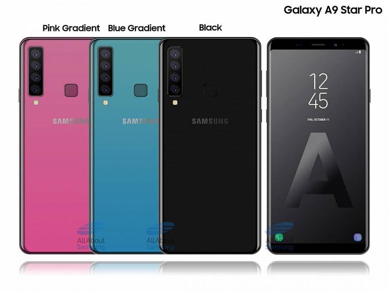 Так может выглядеть смартфон Samsung с четырьмя тыльными камерами