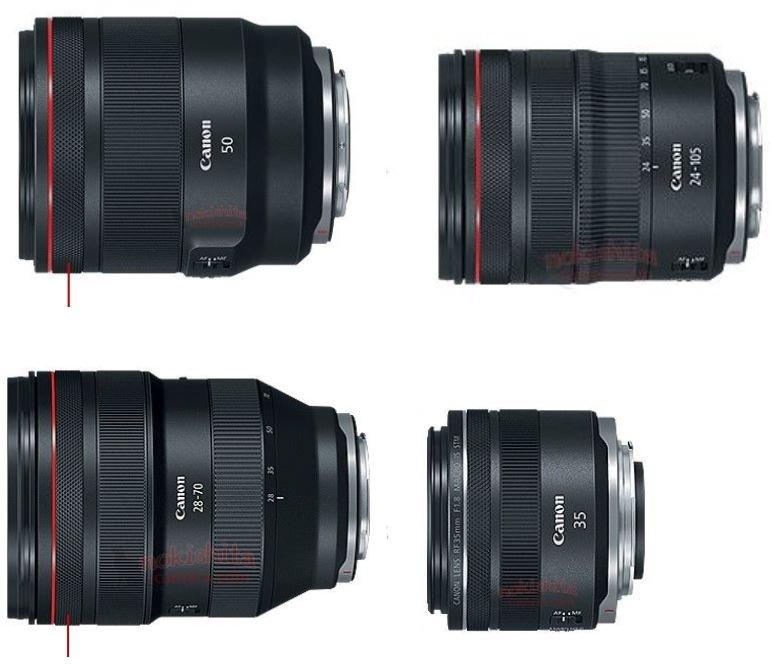 Так выглядят четыре первых объектива для беззеркальной камеры Canon EOS R