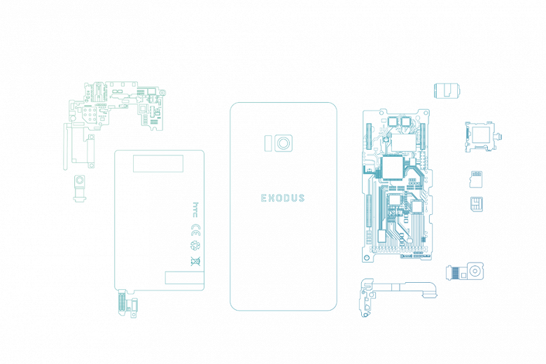 Блокчейн-смартфон HTC Exodus покажут в октябре