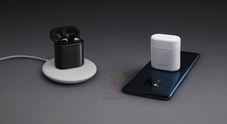 Полностью беспроводные наушники Huawei FreeBuds 2 Pro можно будет заряжать, положив на... смартфон Mate 20 Pro