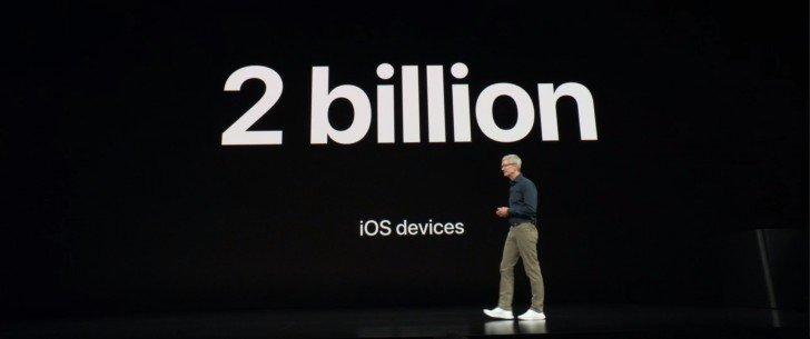 За всё время Apple реализовала почти 2 млрд устройств с iOS