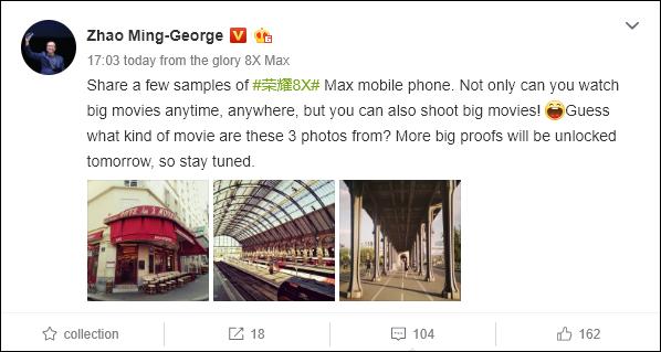 Появились фотографии, сделанные на двойную камеру Honor 8X Max