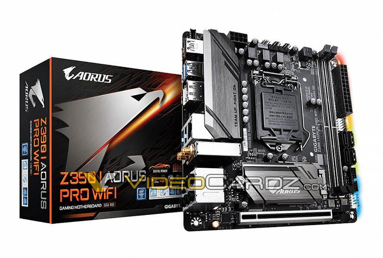 Опубликованы изображения 5 моделей материнских плат Gigabyte на чипсете Intel Z390