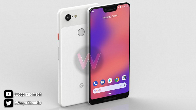 Смартфон Google Pixel 3 XL показали в белом, мятном и чёрном корпусах со всех сторон