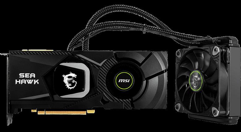 MSI представила четыре видеокарты GeForce RTX 2080 и RTX 2080 Ti с жидкостным охлаждением