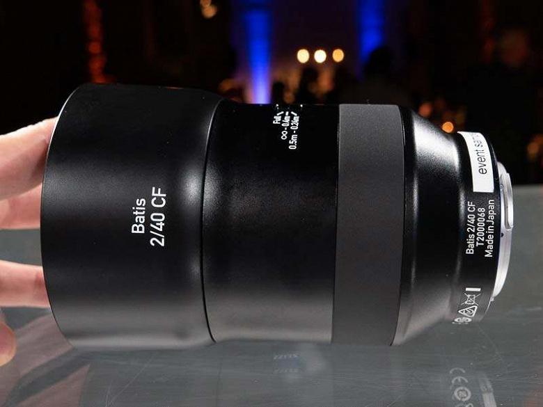 Начат прием предварительных заказов на объектив Zeiss Batis 2/40 CF, стали известны все его характеристики